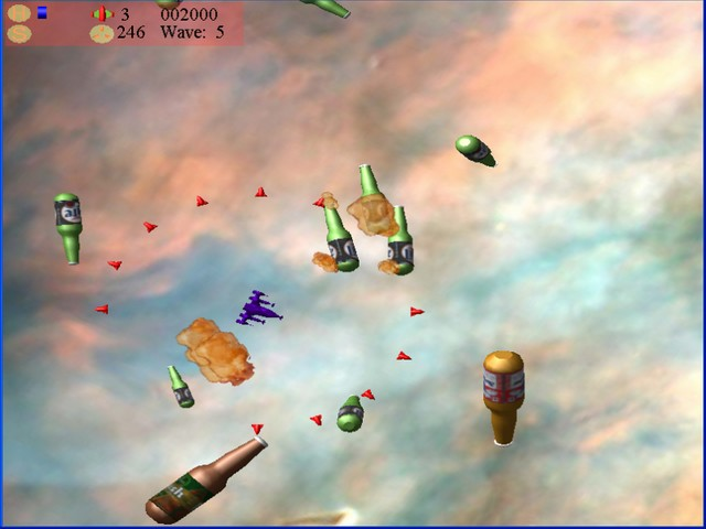 Click to view Beer Asteroids, Invaders, and Blaster 1.2 screenshot